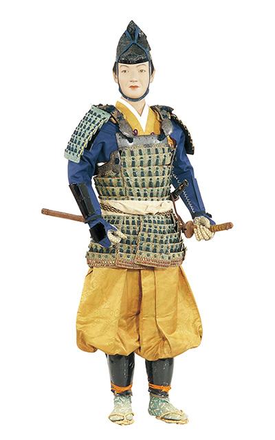 腹当をつけた雑兵   日本服飾史